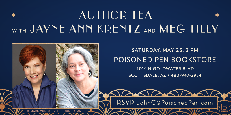 Meg signs with Jayne Ann Krentz at The Poisoned Pen